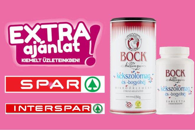 (HU) Spar Extra Ajánlatban a Bock Kékszőlőmag Termékek